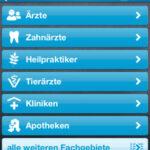 Arzt- und Kliniksuche mit dem iPhone