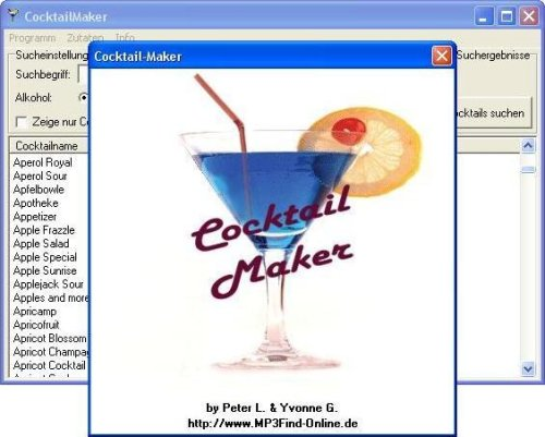 Cocktail Maker - Freeware