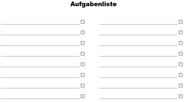 Einfache Aufgabenliste