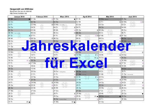 excel jahreskalender kalender zum drucken. Black Bedroom Furniture Sets. Home Design Ideas