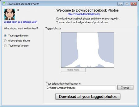 Facebook Fotos runterladen