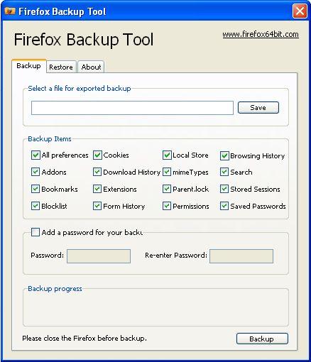 Firefox Profil sichern