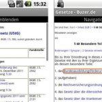 Deutsche Gesetze für Android Smartphones