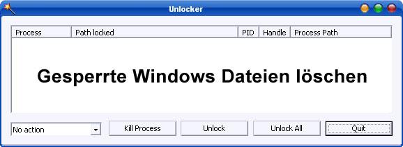 Gesperrte Dateien löschen