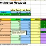 Kosten einer Hochzeit planen – Excel Vorlage