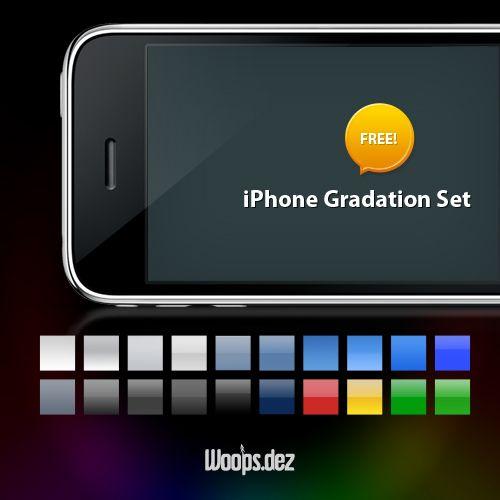 iPhone Photoshop Verlauf Set