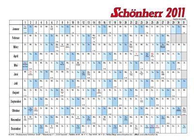 Kalender Vorlage 2011