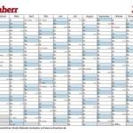 Kalender Vorlage 2013 im DIN A4 Format zum drucken