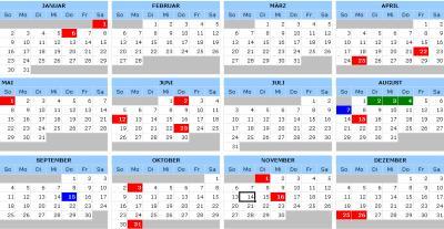 Kalendervorlage 2011