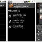 KofferPacken – Android Packliste für den Urlaub