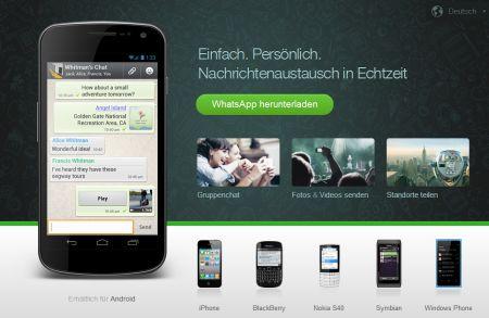 Kostenlose Kurznachrichten mit Android
