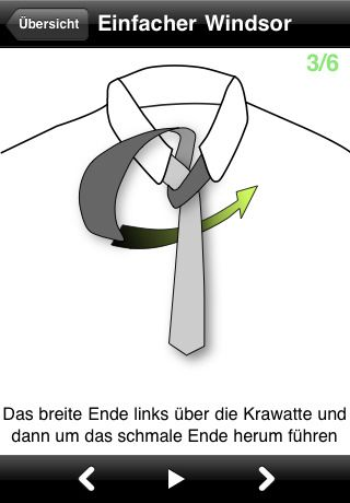 Krawattenknoten iPhone App