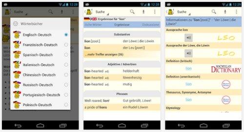 LEO Wörterbuch für Android