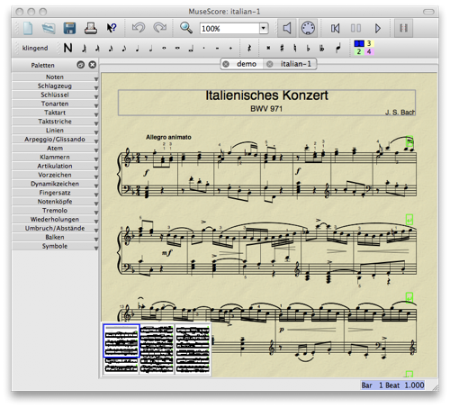 Notensatz Tool für Klavierspieler