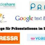 6 Online Werkzeuge für eine Präsentation