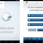 Aktuelle Reisewarnungen unterwegs mit gratis Android App abrufen