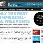 Schriften und Fonts für den kommerziellen Einsatz zum Download
