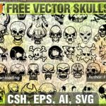 Totenkopf Vector Cliparts und Icons – Download kostenlos