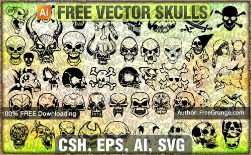 Totenkopf Vector Cliparts