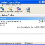 TrueSafe – Kostenlose Backup Software für Windows Rechner