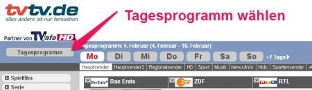 TV Zeitschrift Tagesprogramm
