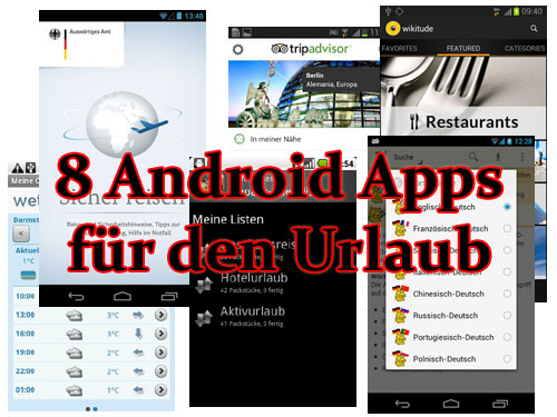 Urlaub Android Apps