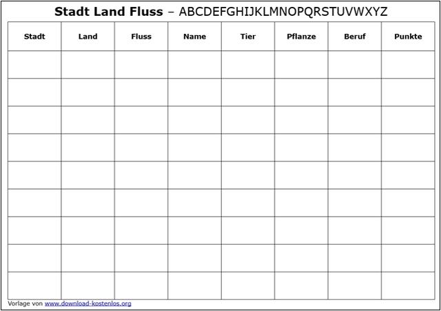 Super Stadt Land Fluss Vorlage download kostenlos CR16