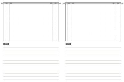 Webdesign Skizzen Vorlagen
