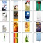 Weihnachtskarten Vorlagen im Internet kostenlos und gratis herunterladen
