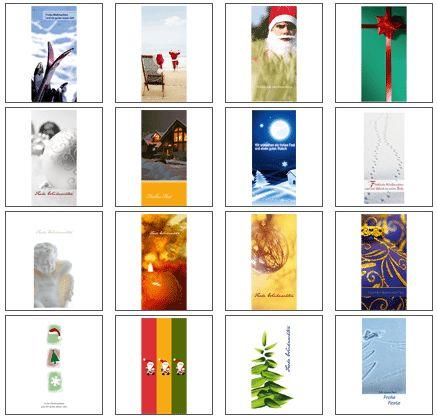 Weihnachtskarten Vorlagen