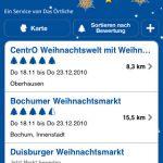 Weihnachtsmarkt mit dem iPhone finden