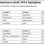 PDF WM Spielplan 2014 zum ausdrucken und ausfüllen