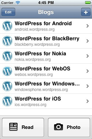 Wordpress iPhone App