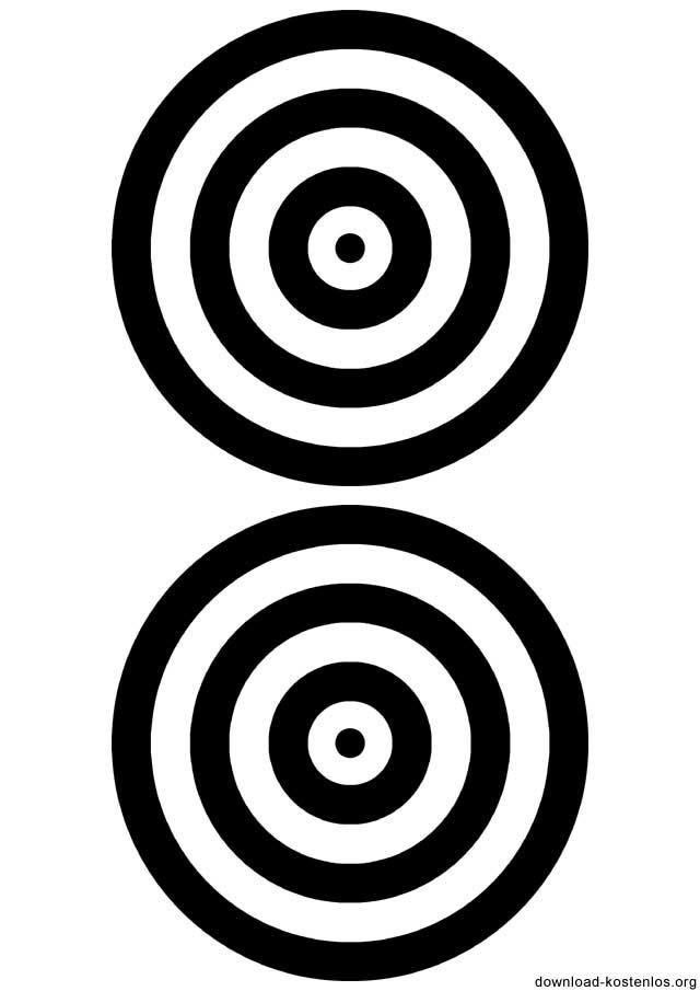 Zielscheibe DIN A4