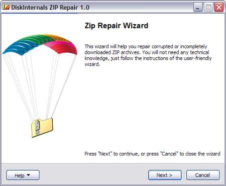 ZIP Datei reparieren